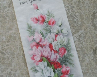 Unused From Secret Pal Vintage Hallmark Mothers Day Greeting Card Parchment Paper