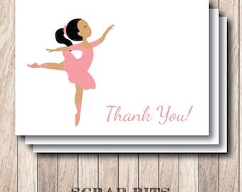 Beautiful Ballerina Thank You Note Card Set