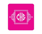 Monogrammed Coasters - FRETWORK Collection - set of 15