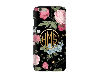 Monogrammed iPhone / iPad Case - FLORAL Collection