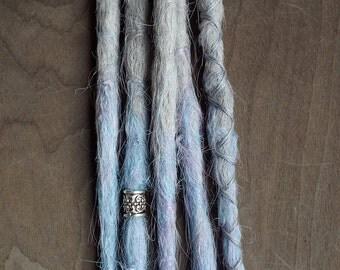 5 Custom Crocheted Synthetic Dreadlock Extensions Boho Dreads