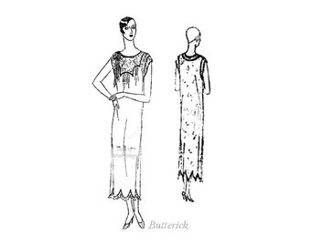 1920s Sewing Pattern Butterick 2101, Womens Nightgown Bust 34, 20s Bridal Nightgown, Trousseau, Vintage Lingerie Pattern, Art Deco