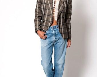 The Vintage Preppy Plaid Suit Blazer