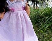 Pale Purple Hawaiian Princess Dress For 18 inch Dolls