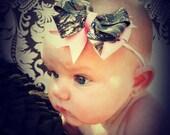 New Mossy Oak BREAK UP Camo Pink Bow Skinny Headband
