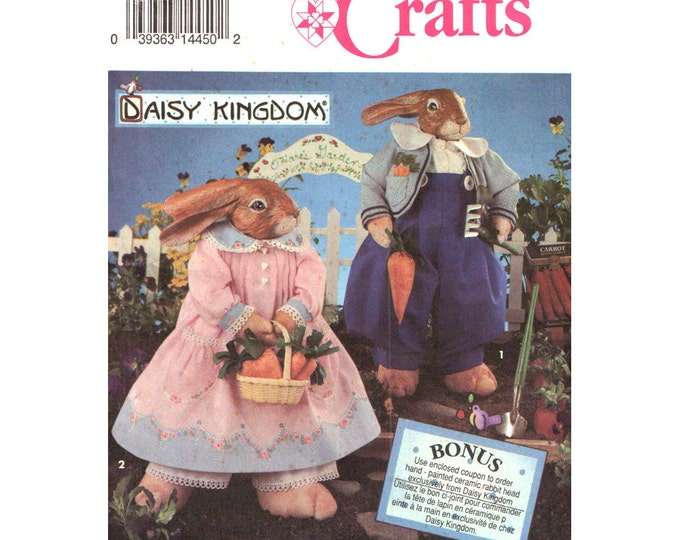 Bunny & Clothes Pattern Simplicity 8587 Rabbit Daisy Kingdom Craft Sewing Pattern