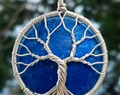 Eco-Friendly Tree of Life Pendant - Vintage Cabochon and Recycled Sterling Silver - Original Design by Ethora