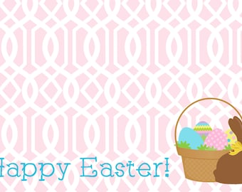 Paper Placemats - Easter Chevron - Set of 12