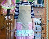 Ruffled Apron PDF Sewing Pattern for American Girl, Children, and Women