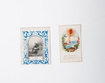French antique religious prayer cards - Saint Arsene - Catholic communion cards