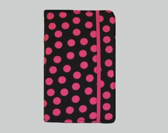 Kindle Cover Hardcover, Kindle Case, eReader, Kobo, Kindle Voyage, Kindle Fire HD 6 7, Kindle Paperwhite, Nook GlowLight Pink Polka Dot