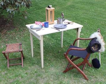 Civil War Folding Camp Table 36 x 24 - TAPERED LEGS