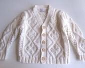 VTG ivory toddler sweater cardigan