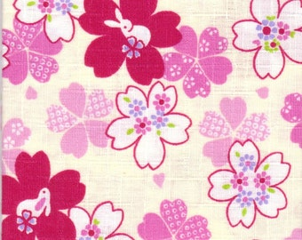 Cherry Blossom Material - 100% Cotton - 30cm x 50cm (11.8 x 19.7 inches) - Reference 8-9