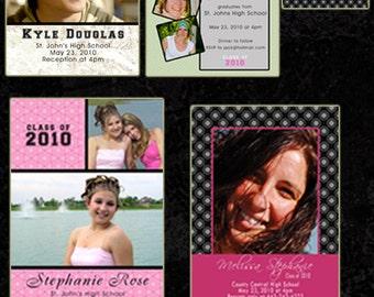 Seniors Graduation Grad Templates  Photoshop Templates  PSD 5 Designs - 4x6, 5x7, Bleed WHCC Press Print- TaraLicious  Set7JB