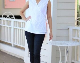 SALE 25 USD--B090---Lovely Lovely (cotton vest with pleats)