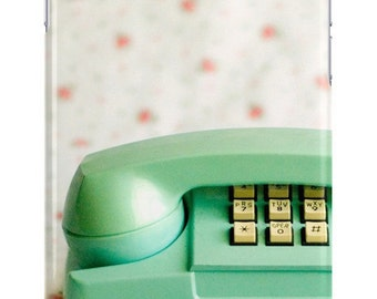 iPhone Case Vintage Princess Phone Blue Green Pink Floral Samsung Galaxy Case iPhone Mid Century Modern