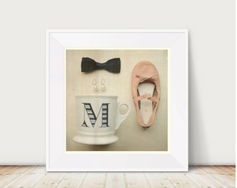 The Lady's Favorites, Vol.2 Fine Art Print--Ballet Slipper Monogrammed Mug M Black Bow Pearl Earrings Pink Cream Elegant Wholesale