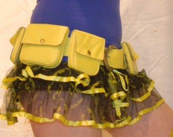 Made to Order- Five Pocket Superhero Leather Utility Belt- Festival, Anime, Cosplay, Burning Man- Pick Your Colour