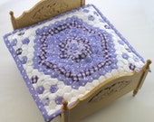 RESERVED for minterior. Dollhouse Miniature Patchwork Quilt in 12th Scale - Purple