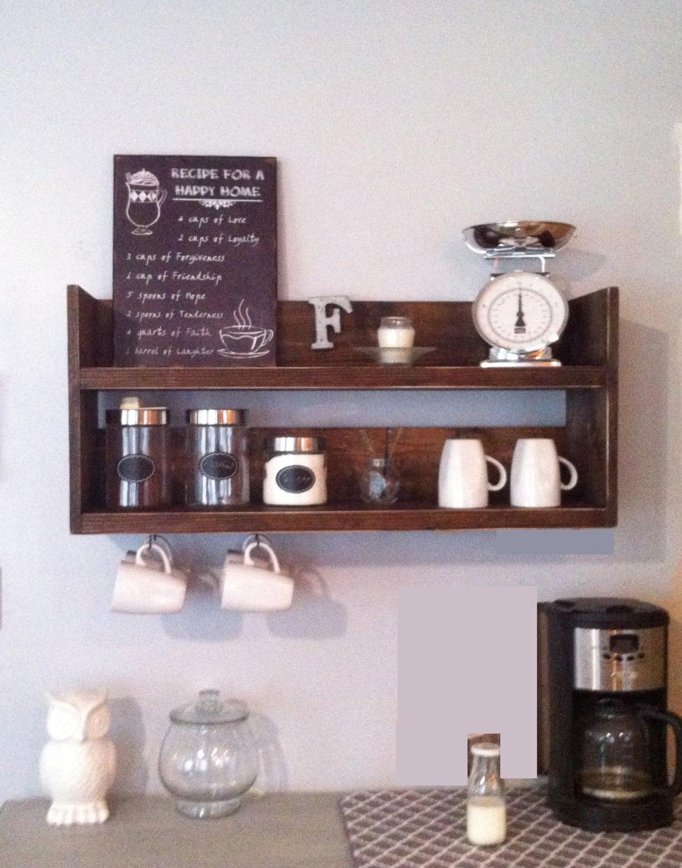 Rustic kitchen shelf coffee shelf coffee bar shelf zoom amipublicfo Gallery