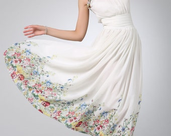 Prom dress maxi chiffon women dress (1206)