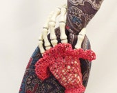 Severed Hand Pin, Skeleton Tie Tack, Goth Jewelry, Fingerless Glove, Lace, Skeleton Hand, Goth Wedding,Miss Otis Regrets,Steampunk HAND3