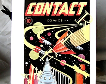 Contact Comics number 12 Blank Note Card Retro