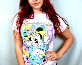 Vintage Minnie Mouse Pink Tee Shirt
