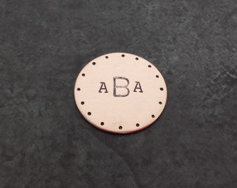 Golf Ball Marker/Lucky Charm/Ticket Scratcher - Copper- Fathers Day - Gifts for Dad