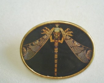 Dragonfly  Brooch Gold Tone