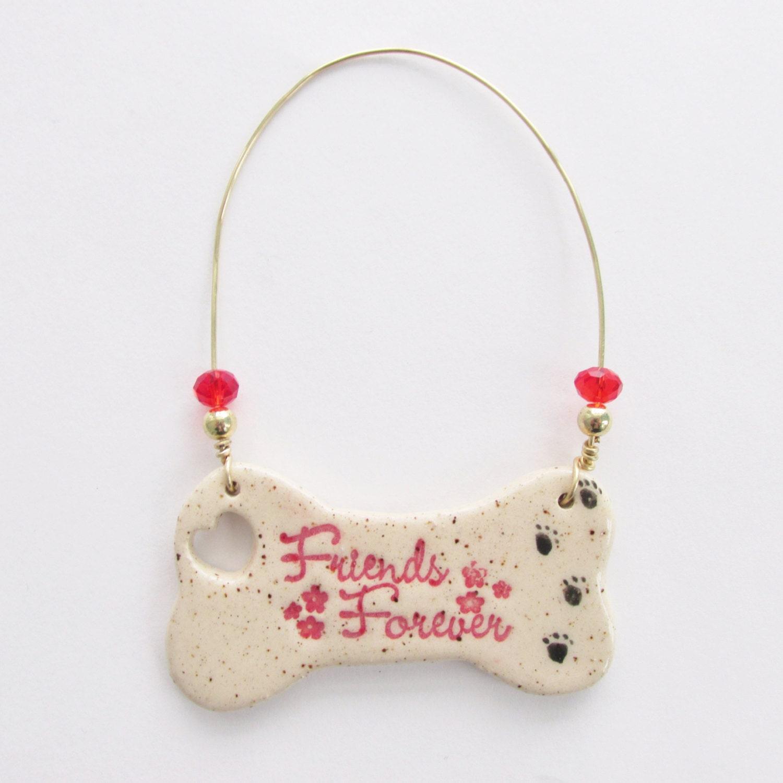 Dog lovers ornament dog bone ornament man 39 s best friend for Dog bone ornaments craft