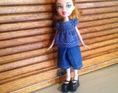 ooak doll clothes fits Bratz or Moxie girlz type doll rescued doll clothes