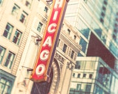 Chicago Photograph - Chicago Theatre Marquee, Chicago art - wall decor, Chicago art print, Windy City, Second City, Chicago home decor, neon