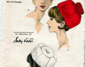 Vogue 6432 Vintage 60s Pill box Hat Pattern from Sally Victor