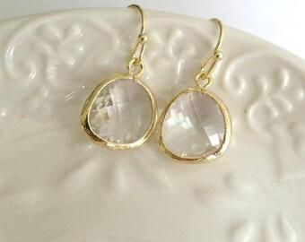 Crystal Drop Earring,Crystal Earrings,Boucles d'oreilles,GIFT, Feminine Jewelry,Crystal Clear Earing,Glass Drop Earrings,Bridesmaids Favors