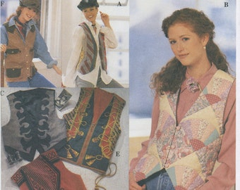 Quilted, Appliqué, Embroidered, Embellished Vest Sewing Pattern Size 14, 16, 18, 20 Simplicity 8698, UNCUT, Misses, Women's Plus Size