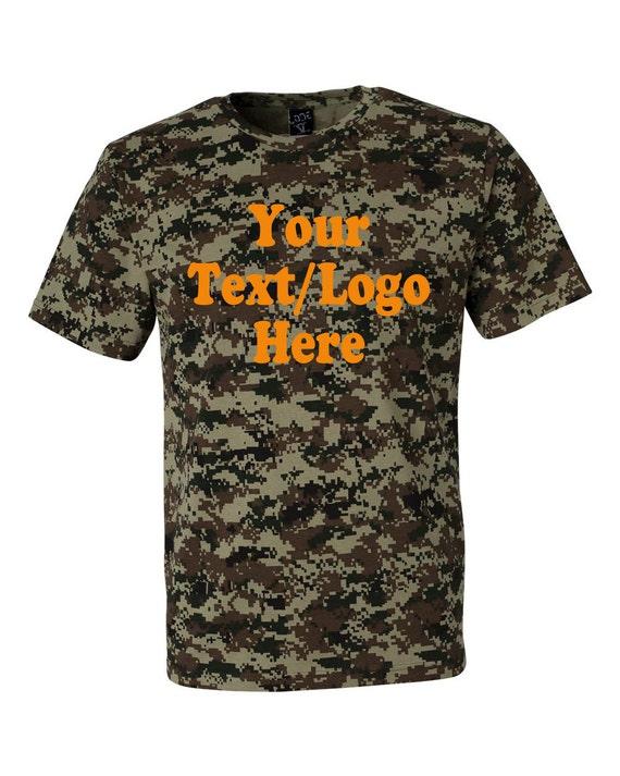 Custom Code V Camouflage Short Sleeve T Shirt 3906 Green