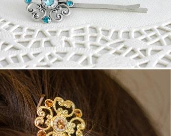 Blue wedding hair accessories, Blue wedding, Blue hair accessories, Blue hair pin, Hair pin, Bridesmaid hair accessories, Bridesmaid gift