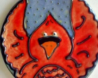 Red Cardinal Bird Spoon Rest