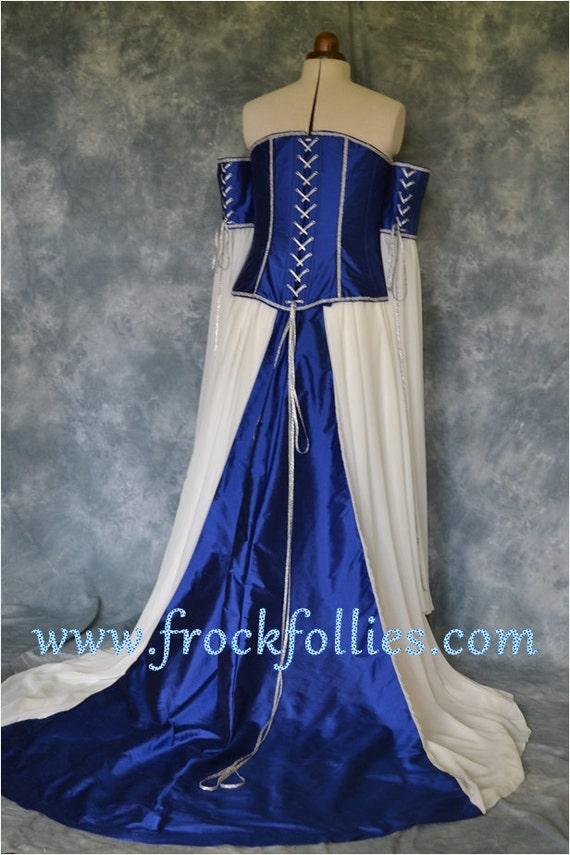 Medieval Wedding Gown Elvish Dress Renaissance