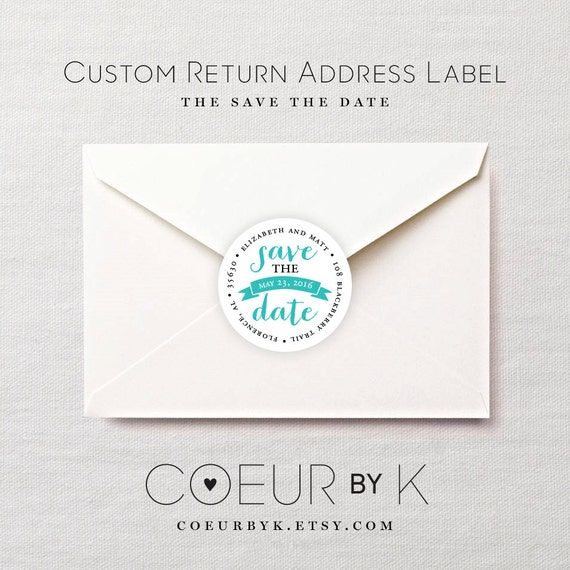 Custom Wedding Return Address Label The Save The Date By