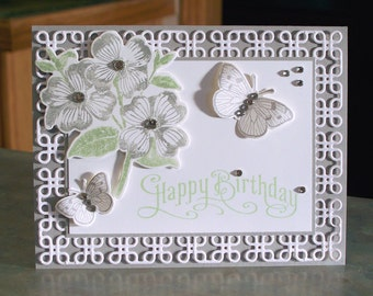 """Handmade  Card - 4.25"""" x 5.5"""" - Stampin Up Perfectly Penned - Birthday - Celebration - Get Well - Thank You"""
