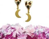 Ringtail Lemur Earrings, Lemur Earrings, Animal Jewelry, Lemur Jewelry - MOONS