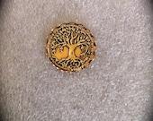 Tree of Life Lapel Pin, Mens Gold Tie Tack, Celtic Jewelry Unisex Accessory Irish Jewelry Groomsmen Gift