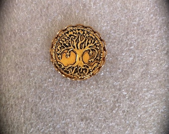 Tree of Life Lapel Pin, Mens Gold Tie Tack, Celtic Jewelry Unisex Accessory Irish Jewelry Groomsmen Gift