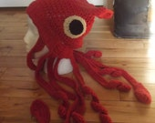 Squid Hat - Slouchy Beanie - crochet - MADE TO ORDER - custom colors