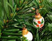 Mini Round Christmas Ornaments - Tree and Holly