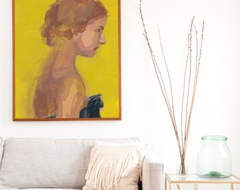 Sweet One .  extra large wall art . giclee print