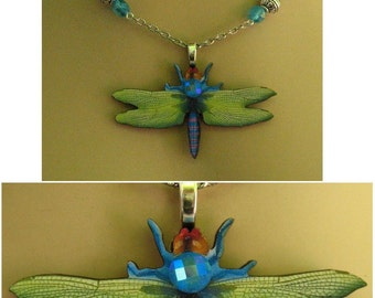 Dragonfly Life Like Pendant Necklace Jewelry Handmade NEW Chain Accessories